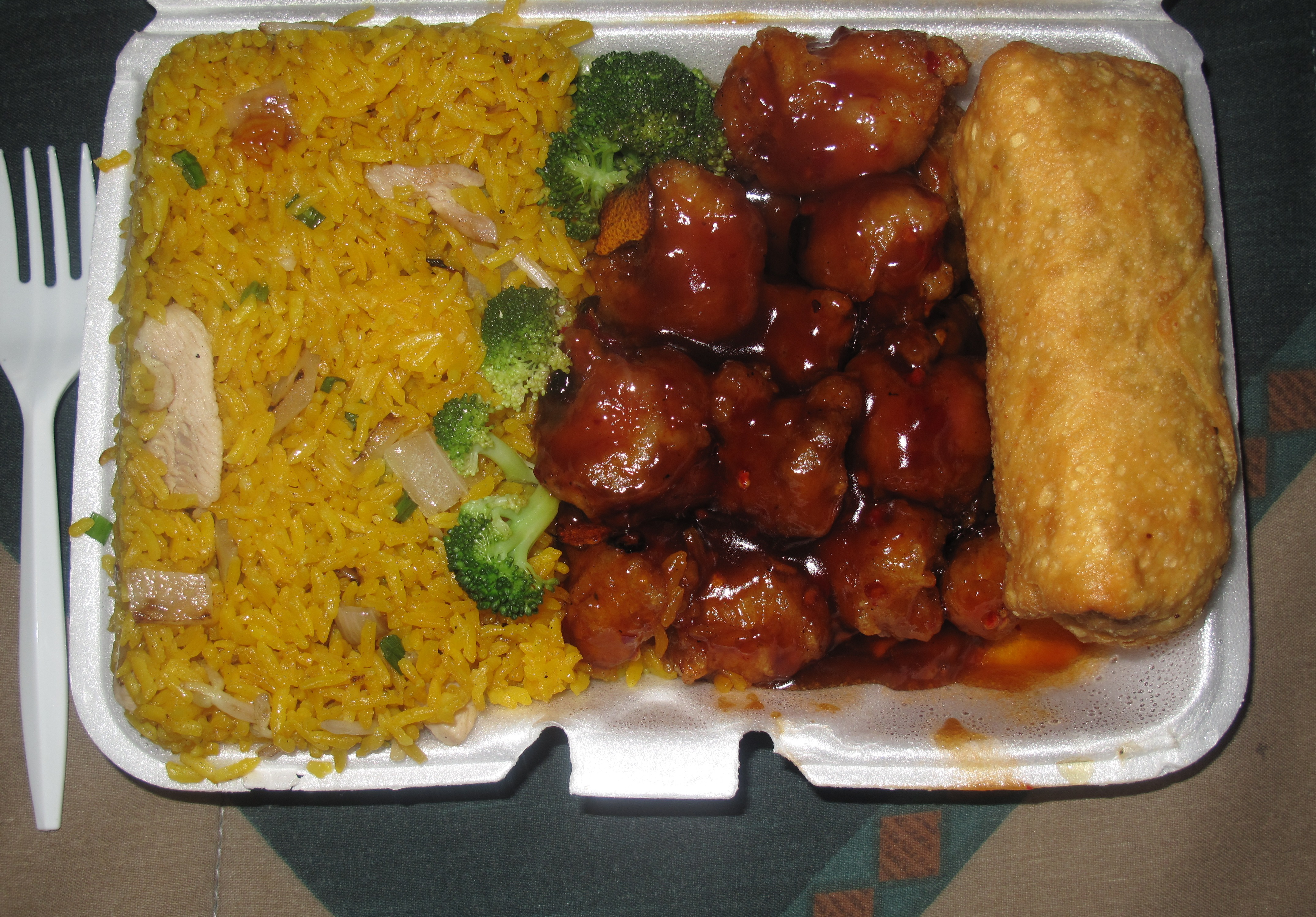 ... out as I had nothing else to prepare for dinner. I opted for The Orange Chicken Combination Plate with \u201cChicken\u201d Fried Rice instead of Pork Fried Rice. & Dinner | THEJNSREPORT