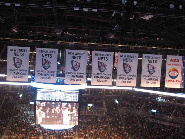 Nice shot at the History of Nets Hanging in their new home.