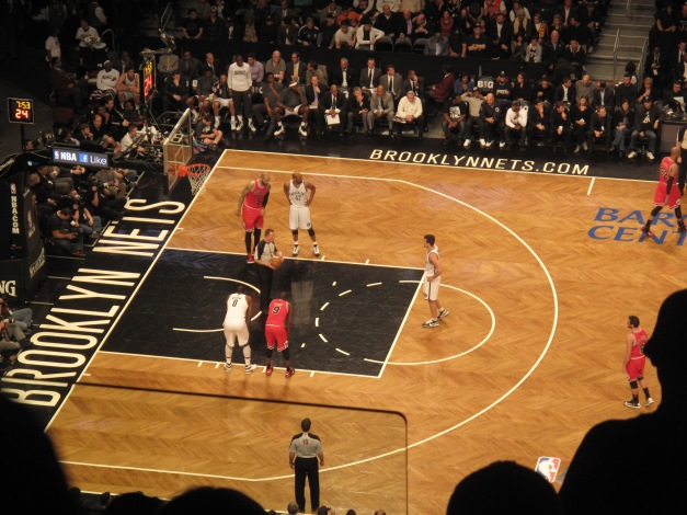 Kris Humphries went to the line and even Brooklyn fans were callin him Mrs. Kardashian.  I was confused.  All he did was get used by her why hate on him.  People need to get a life.