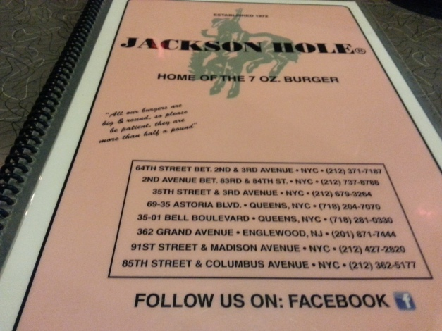 The Pink Menu Cover leaves something to be desired.