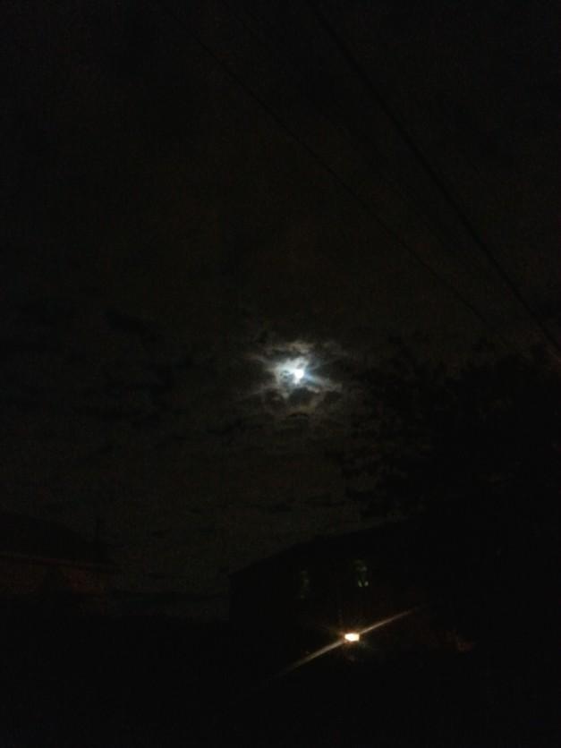 Moon way past midnight