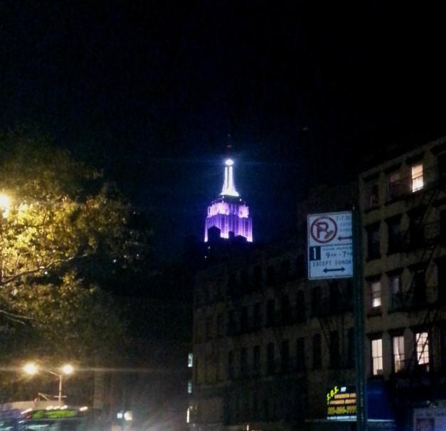 Empire State Building Purple Majesty