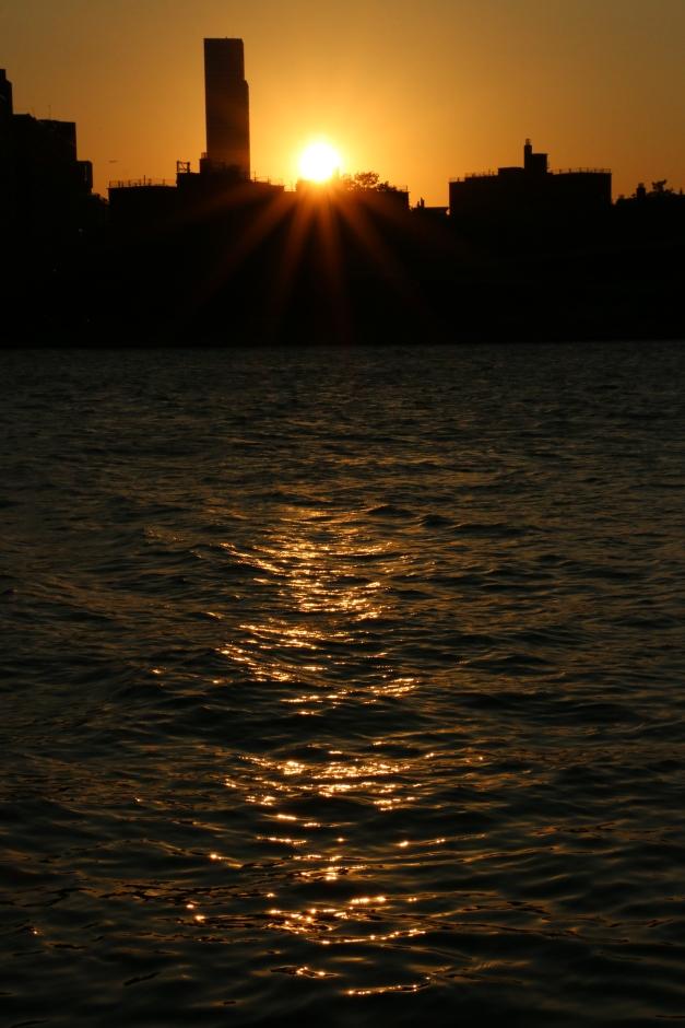 Sun setting Golden Waters