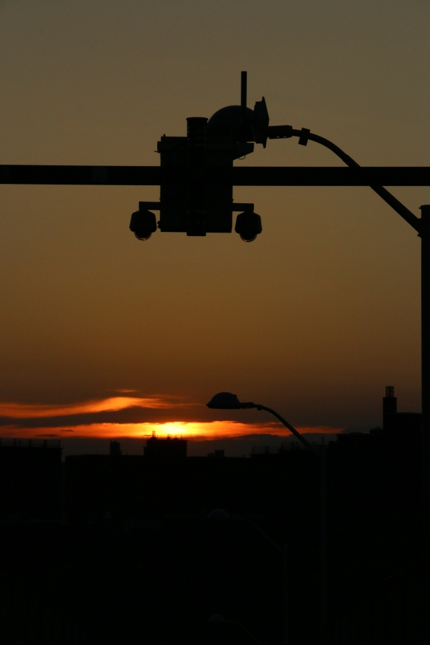 Sun disappears in view of surveillance cam