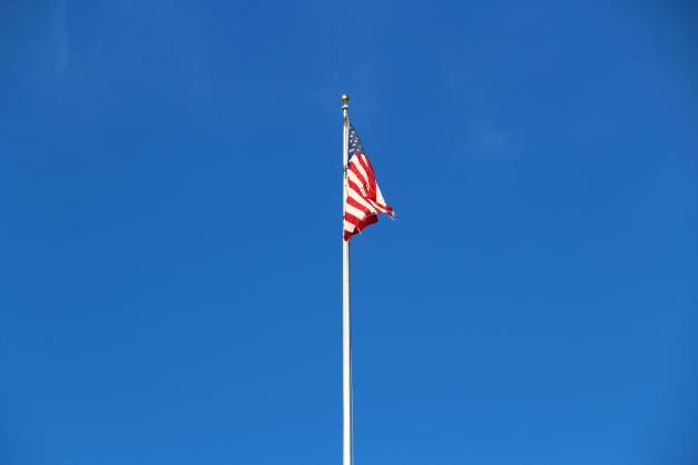Sunlit U.S Flag
