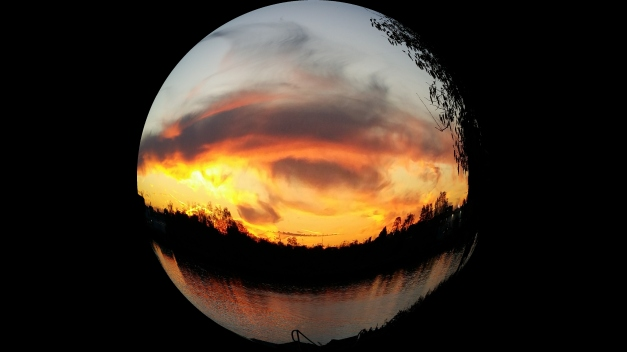 Fisheye by the water