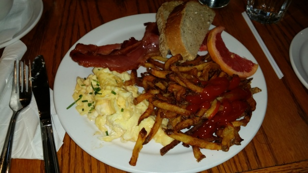 Scrambled Eggs Bacon & Fries