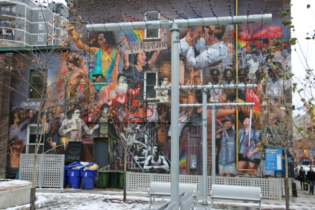 Mural on side of Building Toronto