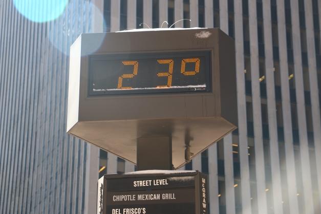 23 degrees