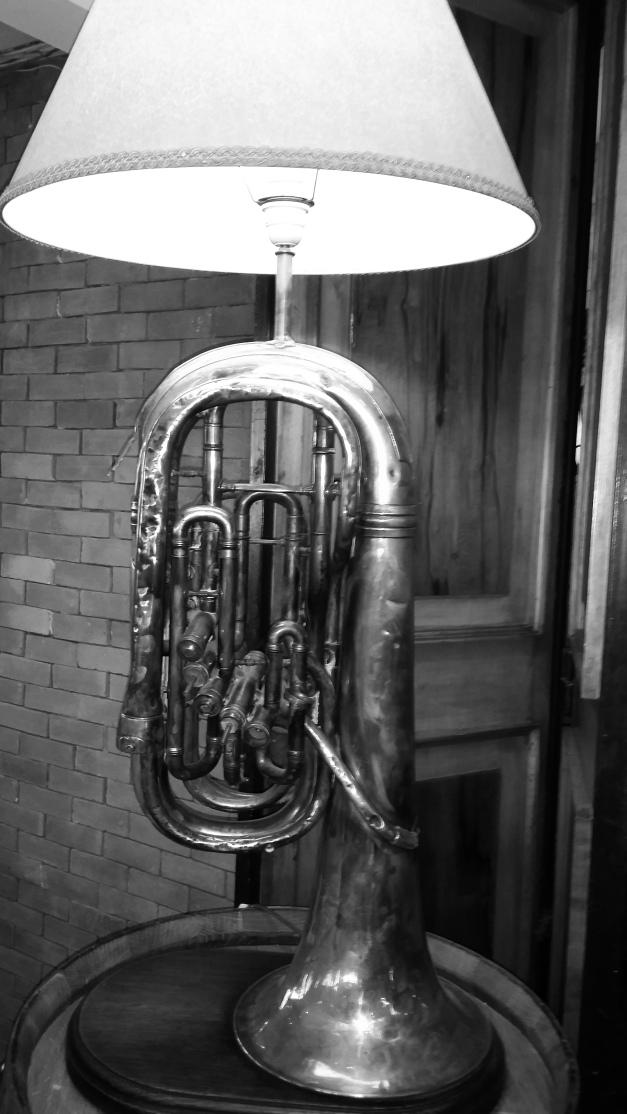 The Baritone Horn Lamp B + W