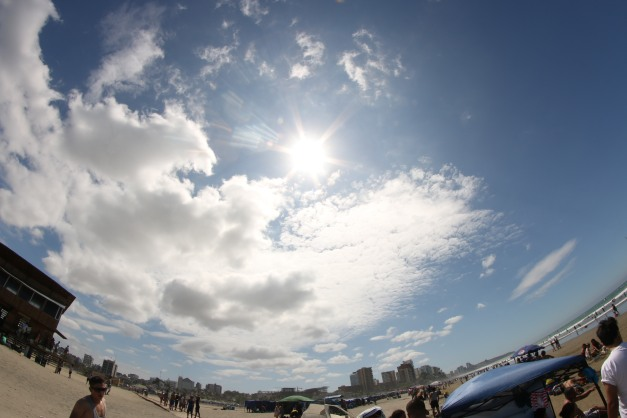 Beach Scene Manta Ecuador