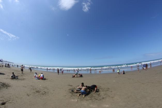 The beach scene 4