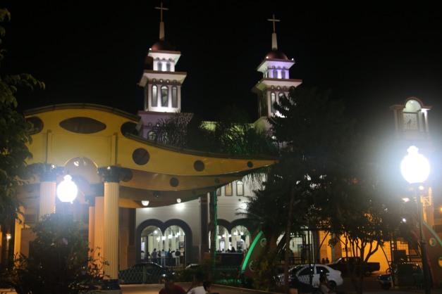 Church left side off center