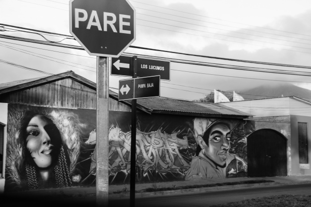 "Pare aka Stop ""Public Art Display Mural"" Santiago Chile 2"